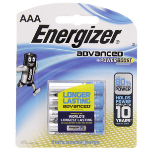 Energizer Advanced +Power Boost AAA Battery X92RP4