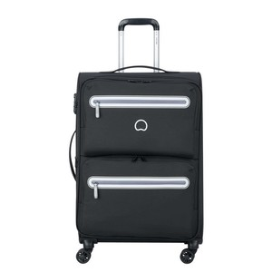 Delsey Carnot 4Wheel Soft Trolley 68cm Black