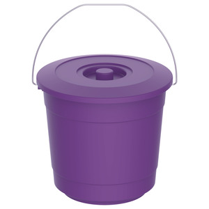 Cosmoplast Bucket With Lid EX-30 5Litre Assorted Color 1pc