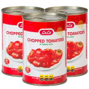 Lulu Chopped Tomatoes in Tomato Juice 3 x 400g