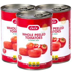 Lulu Whole Peeled Tomatoes in Tomato Juice 3 x 400g