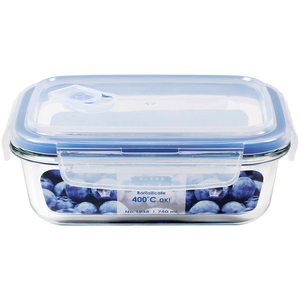 JCJ Double Lock Glass Container 750ml