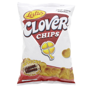 Leslies Clover Chips Barbeque 145g