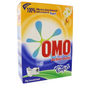 OMO Active Auto Fabric Cleaning Powder with Comfort 3kg