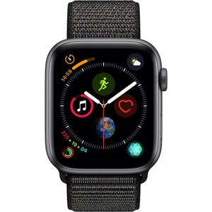 Apple Watch Series 4 - GPS 44mm Space Grey Aluminium Case with Black Sport Loop
