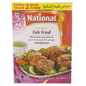 National Spice Mix For Fish Fried 100g