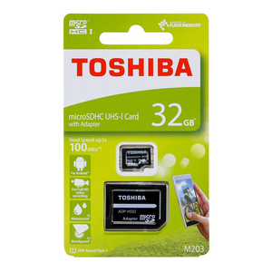 Toshiba Micro SD Card NM203K0320 32GB+Adaptor
