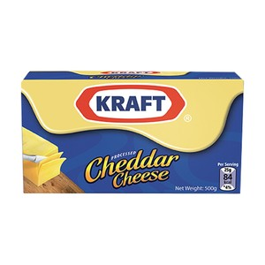 Kraft Processed Cheddar Cheese 500g