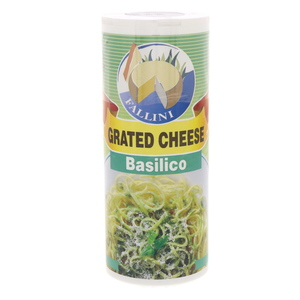 Fallini Grated Cheese With Basilico 80g