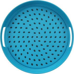 Home Round Anti Skid Tray 35cm Assorted Color
