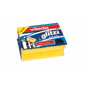 Vileda Glitzi Sponge Scourer Dish Washing High Foam 1pc