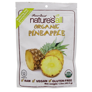 Natures All Organic Pineapple Freeze & Dried 42.5 Gm
