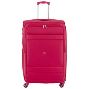 Delsey Indiscrete Soft Trolley 56cm 4 Wheel Soft Trolley Red