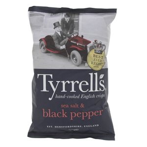 Tyrrell's English Crisps Sea Salt & Black Pepper 150g