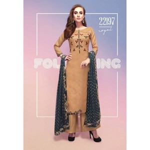 Semi Stitched Women's Churidar Material Fiona Royal 22197