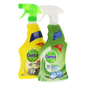 Dettol Power All Purpose Cleaner 500ml + Mould & Mildew Remover 500ml