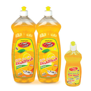 Home Mate Premium Dishwash Lemon 2 x 1Litre + 500ml