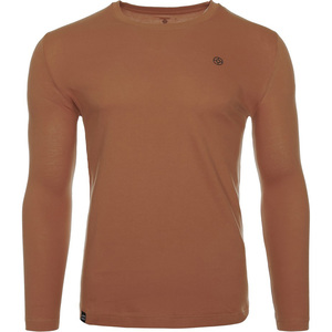 John Louis Men's Round-Neck T-Shirt Long Sleeve Capri Brown