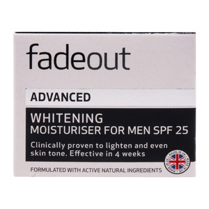 Fade Out Extra Care Whitening Moisturizer For Men Spf 25 50ml