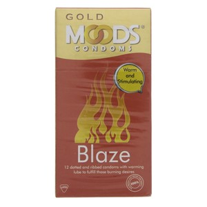 Moods Gold Condoms Blaze 12pcs