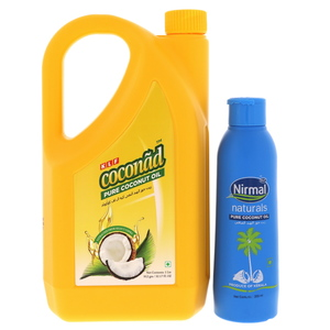 KLF Coconad Pure Coconut Oil 1Litre + Natutrals Coconut Oil 200ml