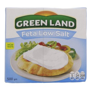 Green Land Feta Low Salt Cheese 500g