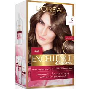 Loreal Excellence Cream Natural Light  Brown  1 Packet