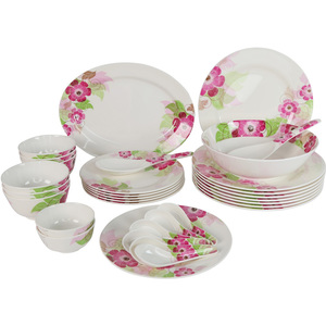 Melamine Dinner Set Petunia 34pcs