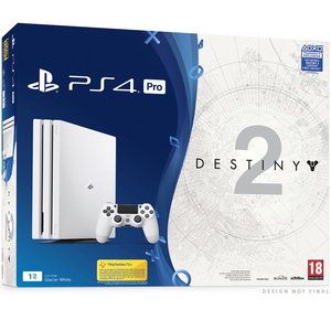 Sony PS4 Pro 1TB White+Destiny 2