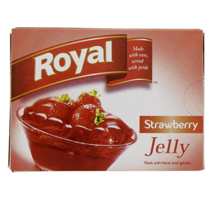 Royal Strawberry Jelly 85 Gm x 12 Pieces