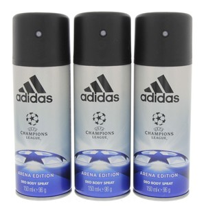 Adidas Deo Body Spray Champions League Arena Edition 150ml x 3pcs