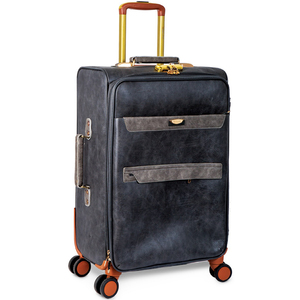 Beelite 4 Wheel Leather Trolley 19inch Assorted Color