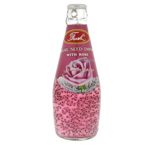 Lulu Fresh Basil Seed Drink With Rose Flavoured 290ml