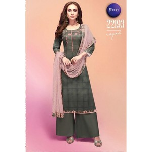 Semi Stitched Women's Churidar Material Fiona Royal 22193