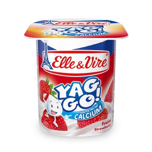 Elle & Vire Yaggo Yogurt Strawberry 125g