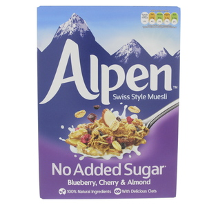 Alpen Blueberry,Cherry and Almond Swiss Style Muesli 560g
