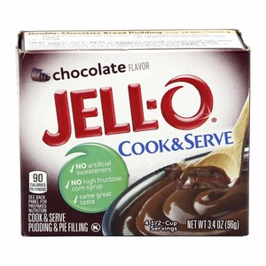 JELL-O Chocolate Flavor Cook and Serve 96g