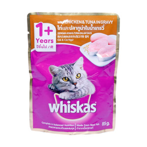 Whiskas Chicken & Tuna In Gravy 1+ Years 85g