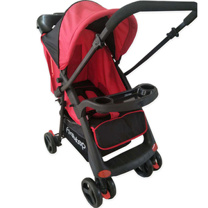 First Step Baby Stroller D55 Black/Red