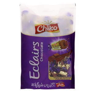 Chiko Eclairs Chocolate Caramels With Chocolate Centre 750g
