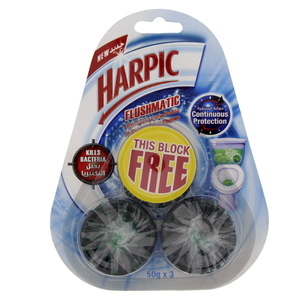 Harpic Cistern Toilet Blocks 50g X 3pcs