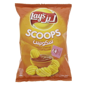 Lays Scoops Spicy Cheese Potato Snack 44g