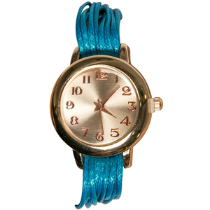 Women's Fashion Multilayer Weave Band Wrist Watch Blue