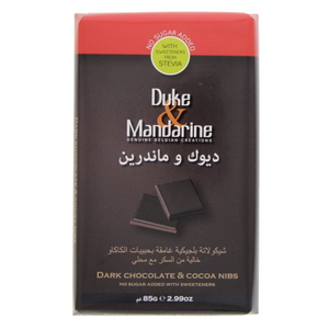 Duke And Mandarine Dark Chocolate And Cocoa Nibs 85g