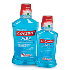 Colgate Plax Mouth Wash Peppermint 500ml + 250ml