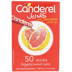 Canderel Low Calorie Sweetener With Sucralose 50 Sticks