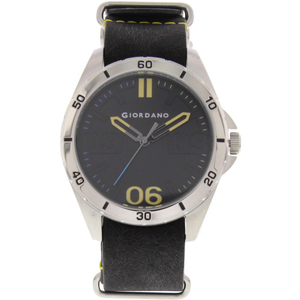 Giordano Men's Analog Watch Black Strap With Black Dial 1783-01