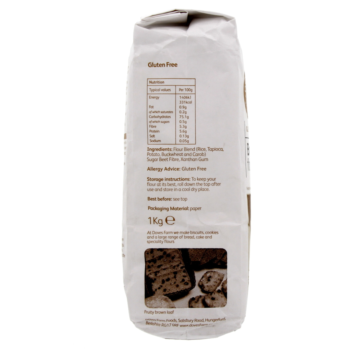 Buy Doves Farm Gluten Free Brown Bread Flour Blend 1 Kg
