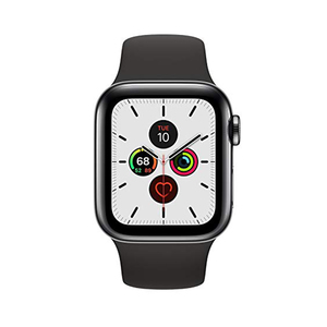 Apple Watch Series 5 GPS + Cellular MWX82AE/A 40mm Space Black Stainless Steel Case with Black Sport Band