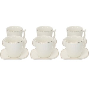 Turkish Coffee Set 90ml 12pcs White